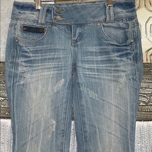👚Almost famous distressed jeans with zips- 3